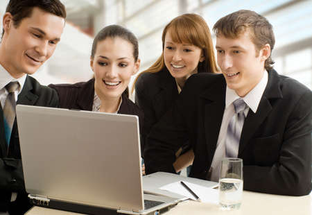 team of successful smiling young business people Stock Photo - 4493524