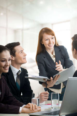 team of successful smiling young business people Stock Photo - 4493526