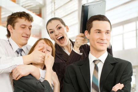 team of successful smiling young business people Stock Photo - 4493527