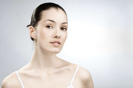 beauty girl on the grey background Stock Photo - 4782555