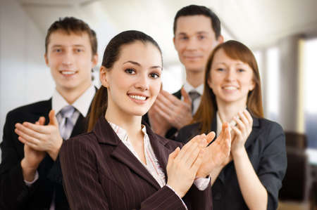 team of successful smiling young business people Stock Photo - 4782553