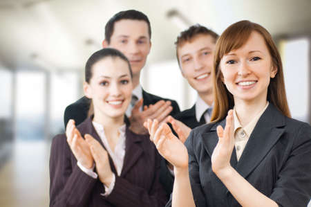 team of successful smiling young business people Stock Photo - 4854053