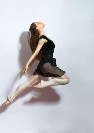 nice girl: a young nice girl dancing modern dances Stock Photo