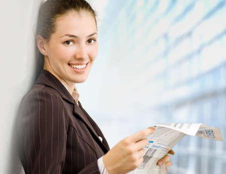 a beautiful business woman enjoying her success photo