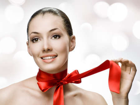 beauty girl on the white background Stock Photo - 5551457