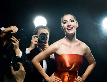 Photographers are taking a picture of a film star Stock Photo - 5551454