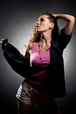a young nice girl dancing modern dances Stock Photo - 5582806
