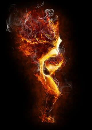 ballerini: luminoso simbolo flamy sullo sfondo nero