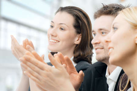 team of successful smiling young business people Stock Photo - 6338282