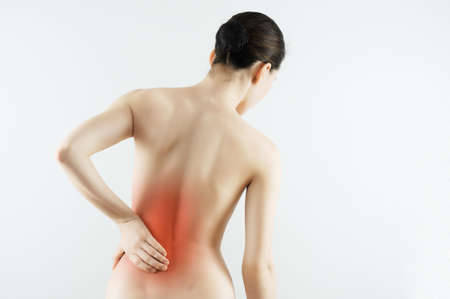 ağrı: acı çeken bir zavallı kız Stok Fotoğraf