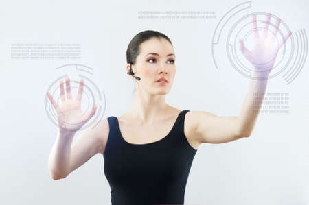 successful person making use of innovative technologies Stock Photo - 6457735