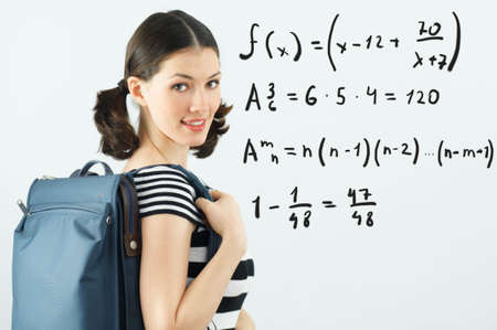 young beautiful girl standing by the board Stock Photo - 6491091