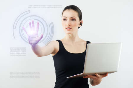 successful person making use of innovative technologies photo