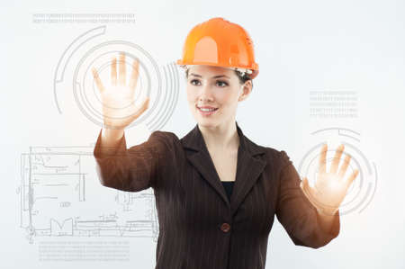female architect: successful person making use of innovative technologies Stock Photo