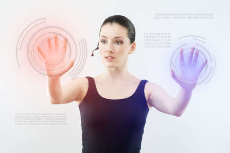 successful person making use of innovative technologies Stock Photo - 6544249