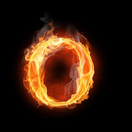letras negras: brillante símbolo flamy sobre el fondo negro