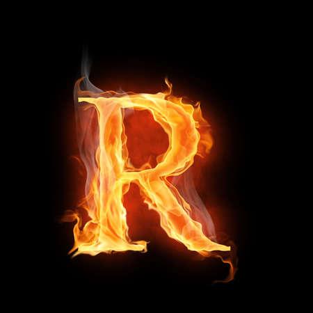 r image: luminoso simbolo flamy sullo sfondo nero