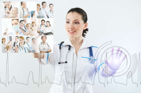medical decisions: successful person making use of innovative technologies Stock Photo