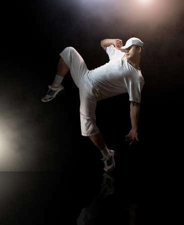 a young nice man dancing modern dances Stock Photo - 6789088