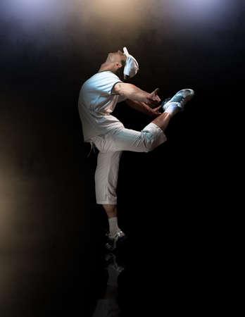a young nice man dancing modern dances Stock Photo - 6789087