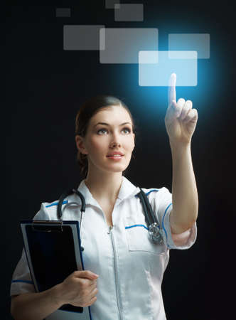 successful person making use of innovative technologies Stock Photo - 6855568