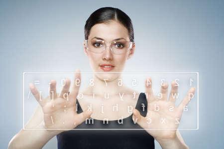 Close-up of secretary's hand touching computer keys Stock Photo - 6855594