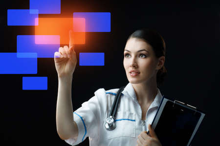 successful person making use of innovative technologies Stock Photo - 7010621