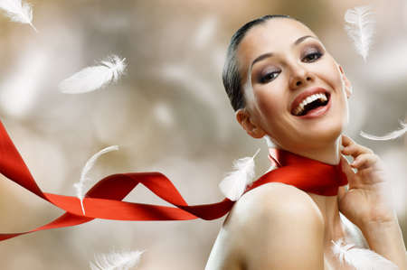 beauty girl on the blur background Stock Photo - 7495220
