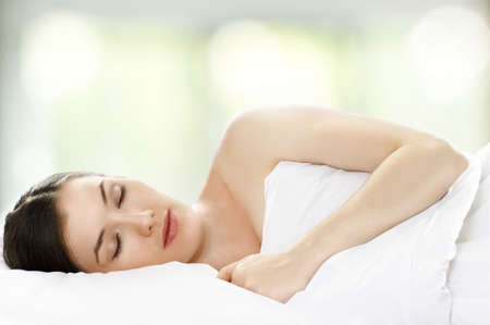 beauty girl in bed, just wake up Stock Photo - 7766631