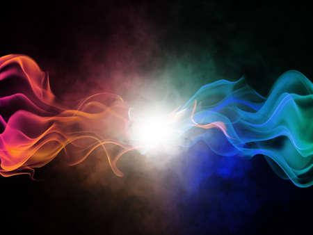 dynamic movement: abstracci�n de fondo brillante borrosa con l�neas coloreadas