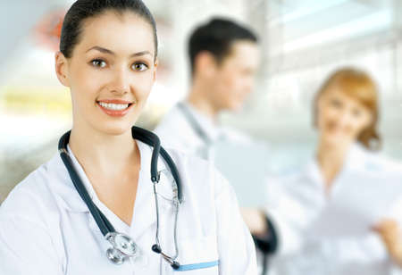 a team of experienced highly qualified doctors Stock Photo - 8041949