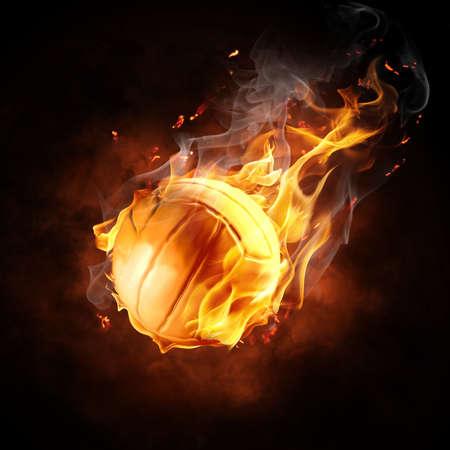 voleibol: brillante s�mbolo flamy sobre el fondo negro