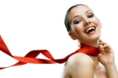 beauty girl on the white background Stock Photo - 8796648