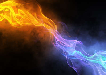 mystic: bright background abstraction with coloured lines Stock Photo