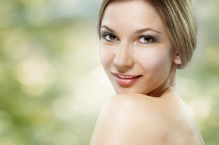 portrait of a beautiful healthy girl photo