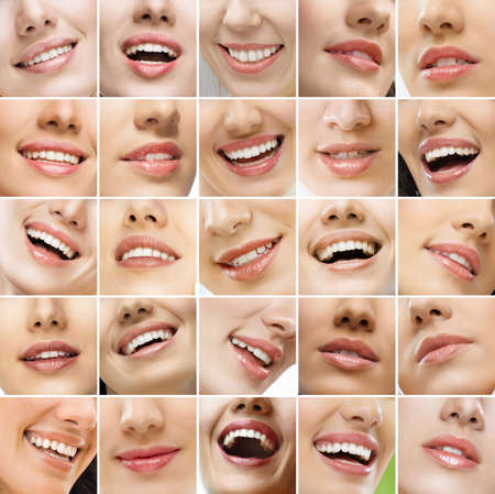Collage, made of many different smiles Stock Photo - 9998572