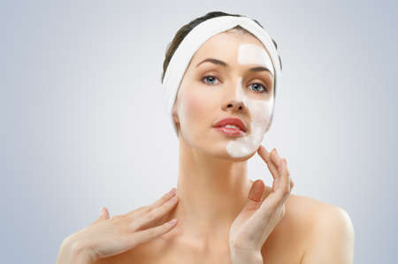 beauty women getting facial mask Stock Photo - 10203666