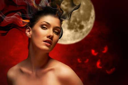 bruja: Joven bruja hermosa. D�a de Halloween