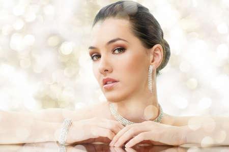 portrait of beautiful woman with jewelry Stock Photo - 11260496
