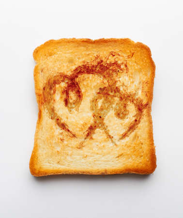 a slice of toast on white photo