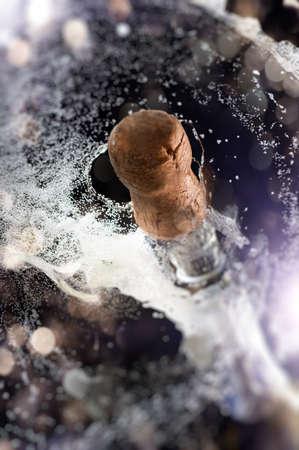 close up of champagne cork photo