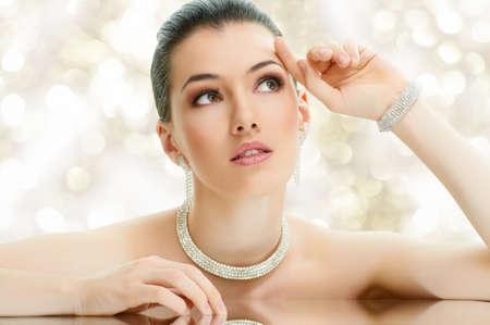 portrait of beautiful woman with jewelry Stock Photo - 11423621
