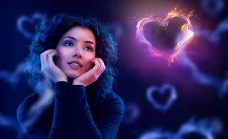 girl in love: beautiful girl wanting to love
