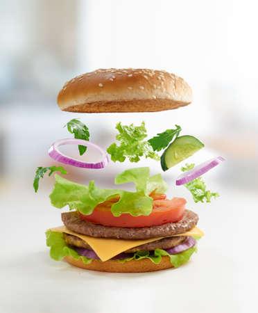 burger: Tasty burger close up