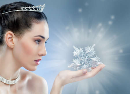 queen: snow Queen with a crown