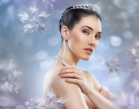 snow Queen with a crown photo