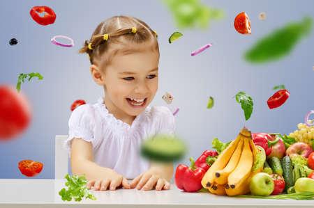 health decisions: A beautiful girl eating fresh fruit