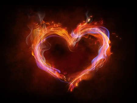 symbole de la flamme sur le noir