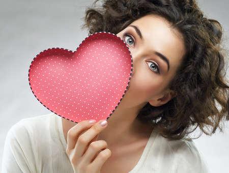 heart: beautiful girl holding a heart