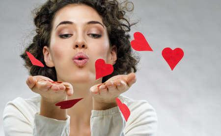 hand heart: beautiful girl holding a heart